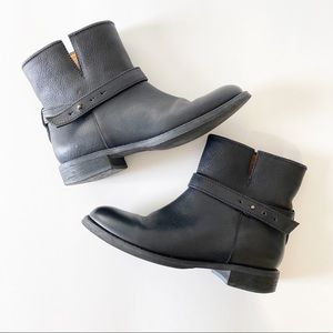 Madewell Leather Moto Black Boots